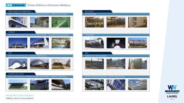 WWMetalwork Pontes, Edifícios e Estruturas Metálicas WeedsWest Global Solutions Adding value to your projects SUPORTES PAR...
