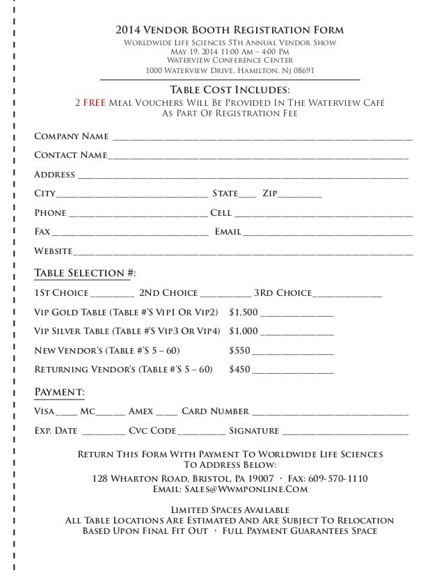 Vendor Registration Form. 2017 Vendor Registration Form Vendor ...