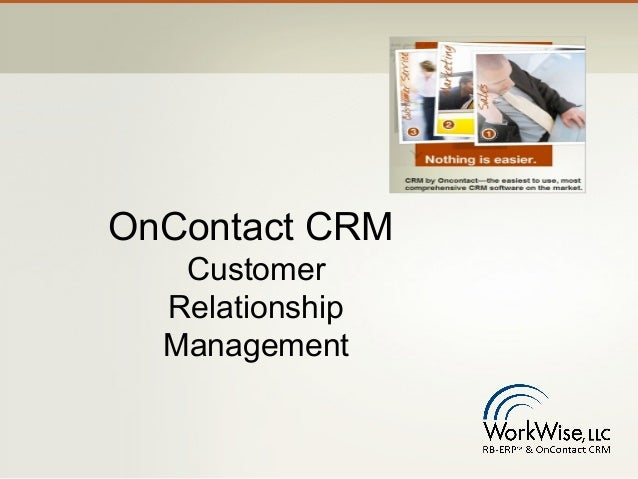 OnContact CRM   Customer  Relationship  Management