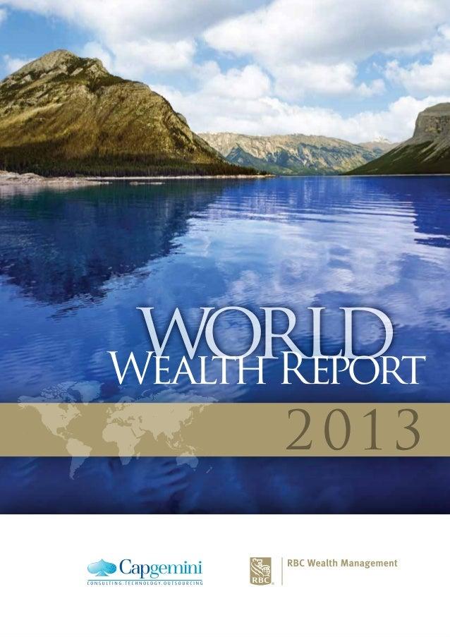 world 2013 worldWealth Report