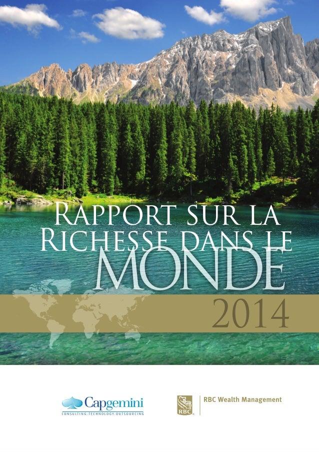 2014 Rapport sur la Richesse dans le MONDEMONDE