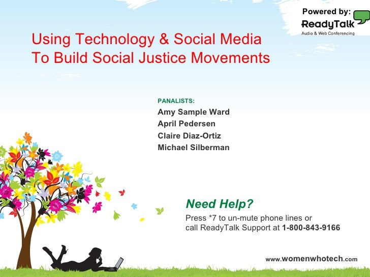 Powered by: Using Technology & Social Media To Build Social Justice MovementsPrinciples of Social Media ROI               ...