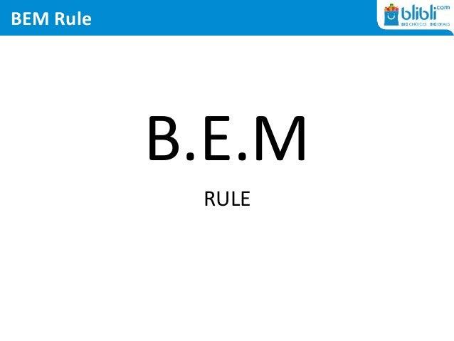 BEM Rule B.E.M RULE