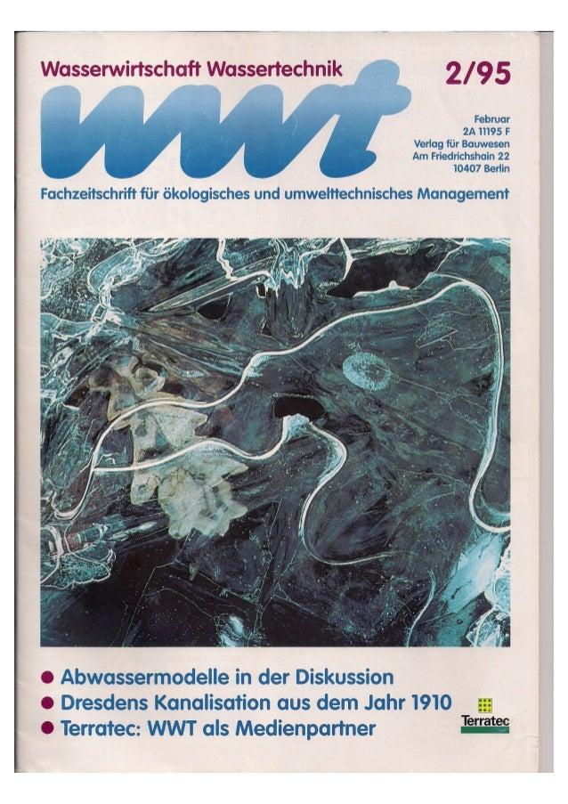 Wasserwirtschaft Wassertechnik 2/1995