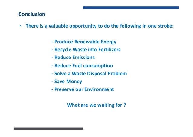 Energy from Waste Water Sewage Sludge in Lebanon - Ecorient 2013