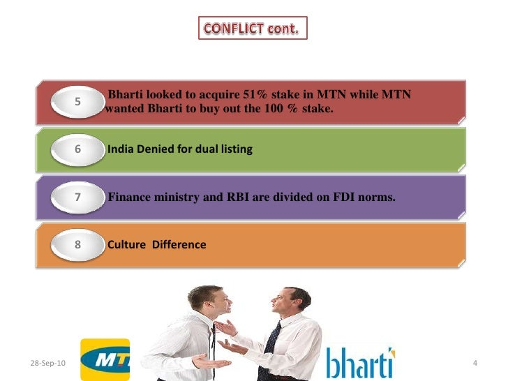 the likely bharti airtel mtn Indian telecommunications company bharti airtel said on monday that it has revived merger talks with mtn group in south africa bharti airtel plans to acquire 49 percent of mtn in return for a 36 percent interest in bharti airtel, of which 25 percent will he held by mtn, and the remainder directly.