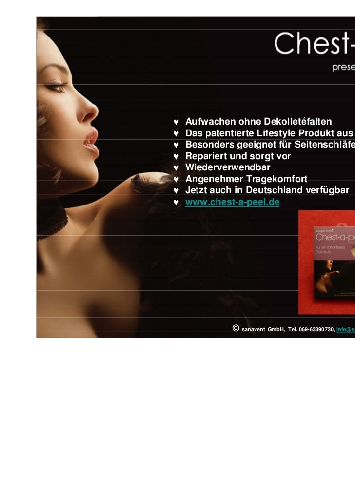 ♥   Aufwachen ohne Dekolletéfalten♥   Das patentierte Lifestyle Produkt aus den USA♥   Besonders geeignet für Seitenschläf...