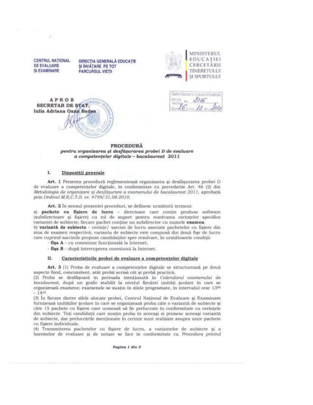 Www.ismb2.ro bacalaureat procedura_2016_din_26_10_2010 (1)