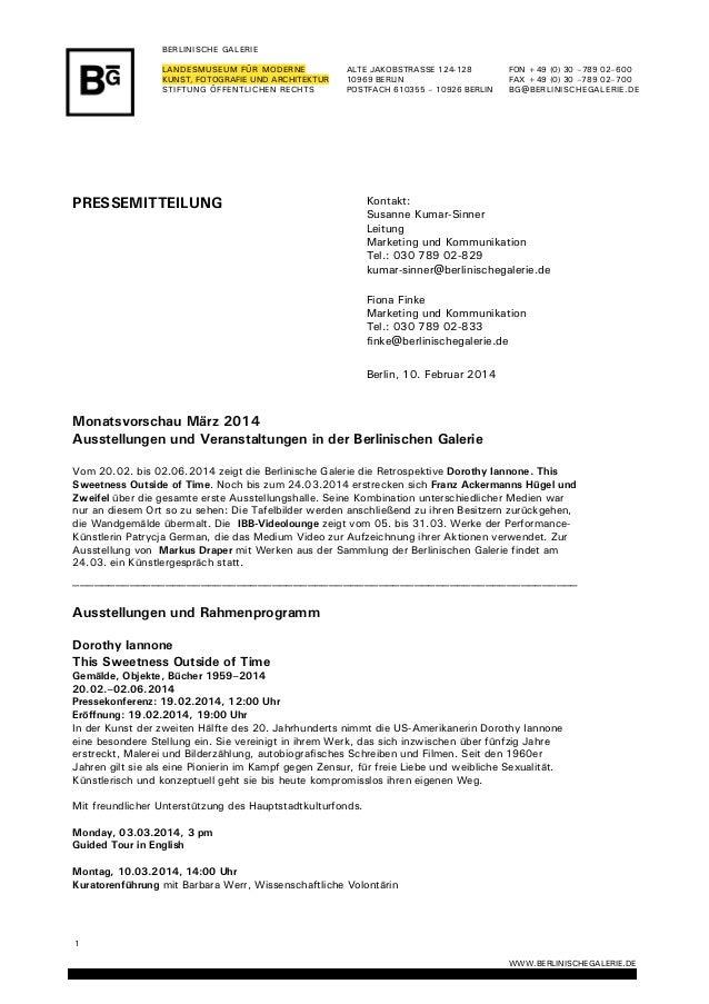 1 WWW.BERLINISCHEGALERIE.DE  BERLINISCHE GALERIE LANDESMUSEUM FÜR MO...