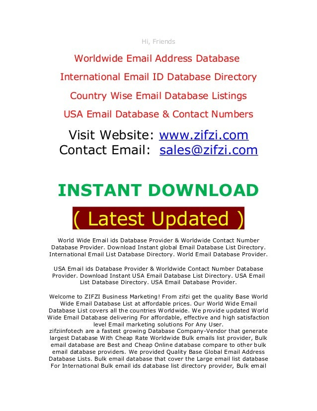 www zifzi com international email database country wise email lis