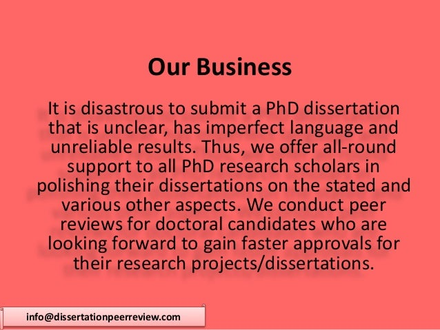 peer review of dissertations