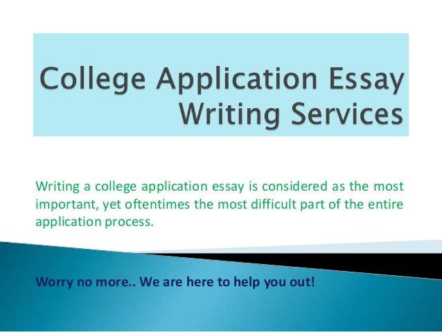 college application essay writing service Your personal consultant will polish your college essays to quality of your writing you need for one essay at one school or application service.