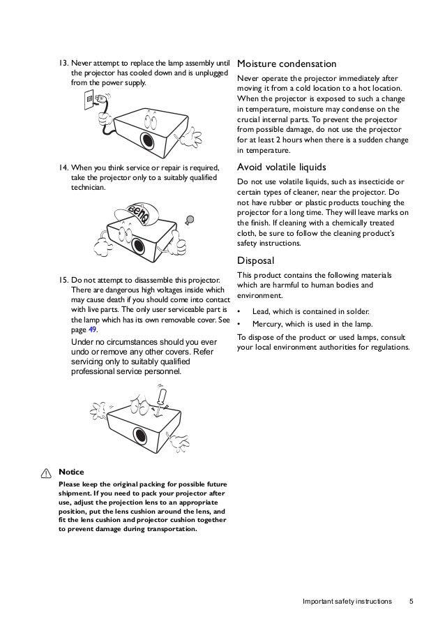 benq w1070 ceiling mount instructions