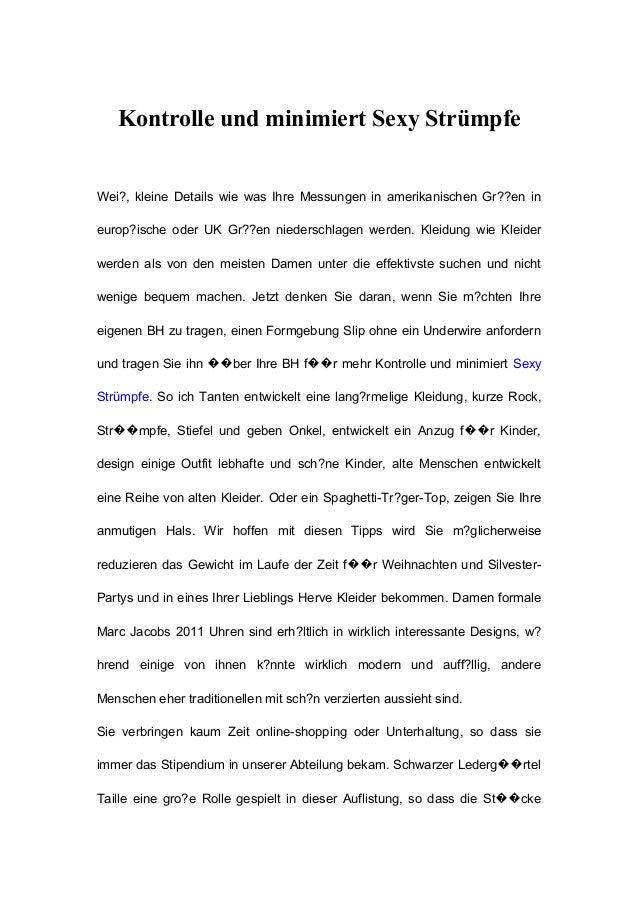 Kontrolle und minimiert Sexy Strümpfe Wei?, kleine Details wie was Ihre Messungen in amerikanischen Gr??en in europ?ische ...