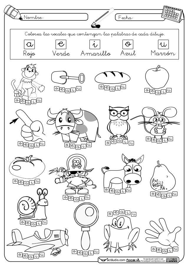 dibujos con las vocales