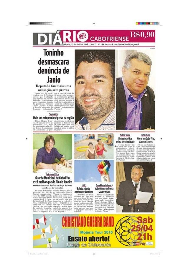 """Toninho desmascara denúncia de  Janio  Deputado faz ¡nais uma acusação sem provas  Ibn. : w¡ fu¡ HnYn¡ rmh n rua «ir """"ITmm..."""