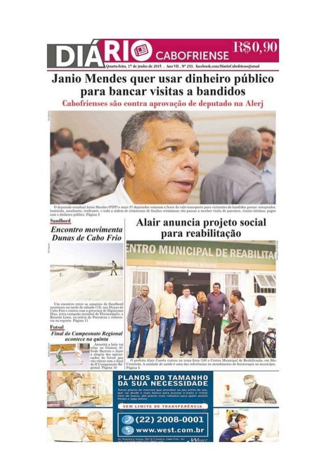 """Jornal Diário Cabofriense - minha coluna """"Cantinho das Ideias"""" 17 de junho"""