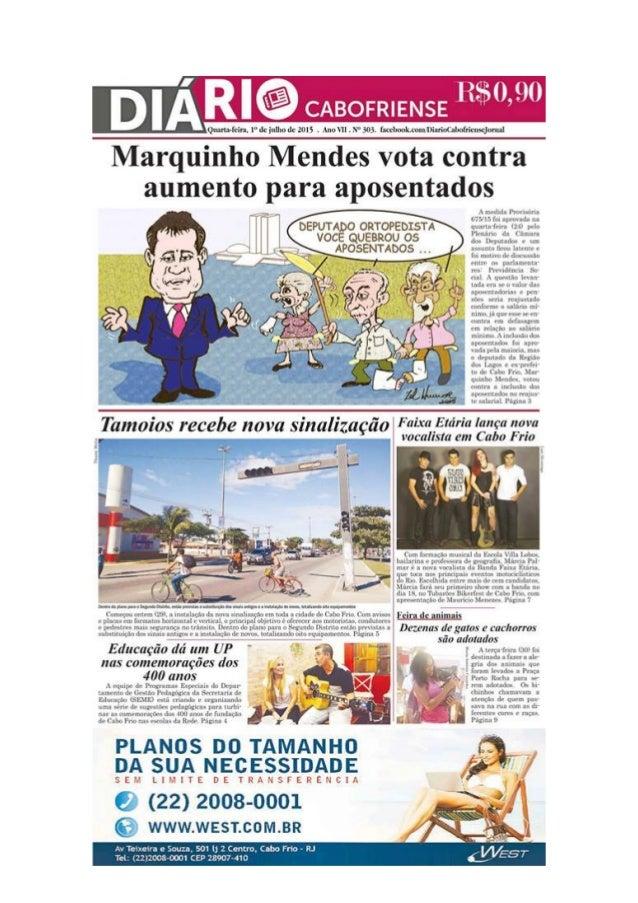 """Jornal Diário Cabofriense - minha coluna """"Cantinho das Ideias"""" 1º de julho"""