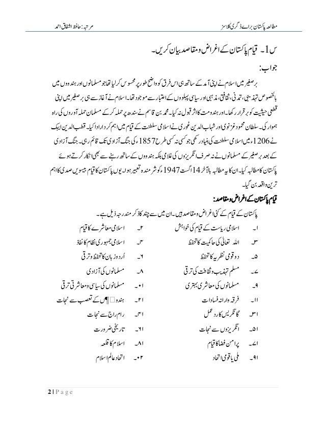 Pak Studies In Urdu Slide 2