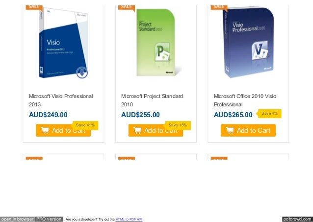 Msoffice Visio Standard 2010 For Sale