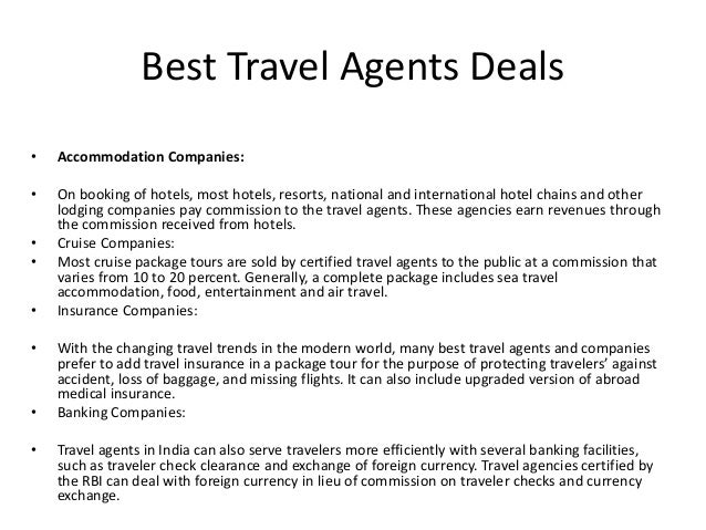 Best travel agents deals in India