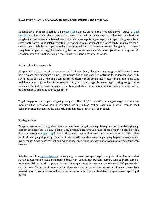 www togelkita org agen togel - sikap positif untuk pengalaman agen …