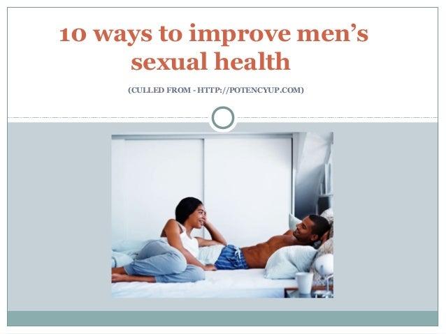 Improve mens sexual health