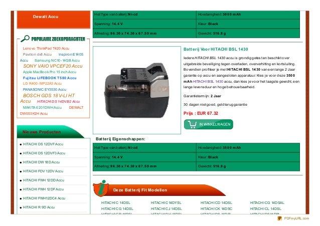 Het Type van batterij:Ni-cd                                       Ho edanigheid: 30 0 0 m Ah       Dewalt Accu            ...