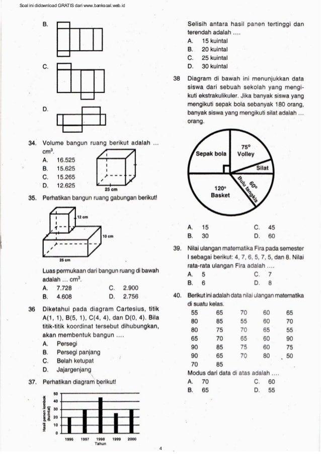 Bank soal matematika sdmi soal ini didownload gratis dari banksoalweb4 ccuart Images
