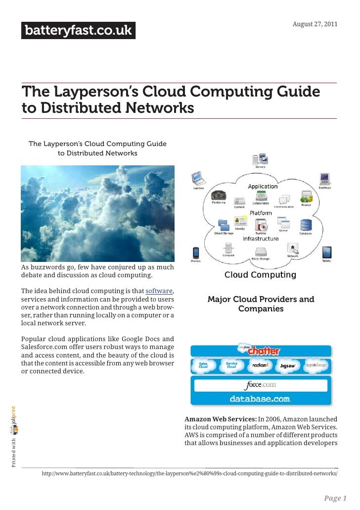 August 27, 2011                 batteryfast.co.uk                The Layperson's Cloud Computing Guide                to D...