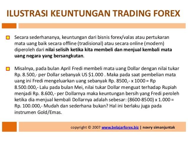 Keuntungan bermain forex trading