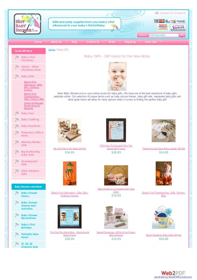 Gifts and party supplies from your baby's first ultrasound to your baby's first birthday enter keywords... Home Great Gift...