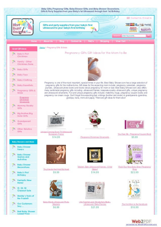 Baby Gifts, Pregnancy Gifts, Baby Shower Gifts, and Baby Shower Decorations. Gifts & Party Supplies from your Baby's 1st U...