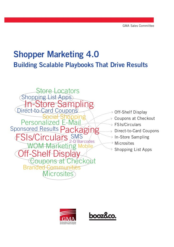 GMA Sales CommitteeShopper Marketing 4.0Building Scalable Playbooks That Drive Results        Store Locators   Shopping Li...