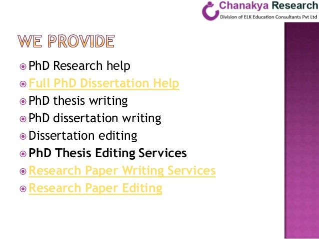 Phd dissertation assistance editing