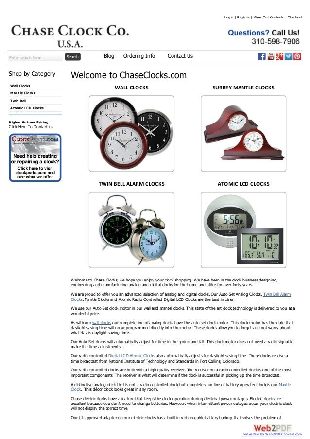 Enter search term Search Shop by Category Wall Clocks Mantle Clocks Twin Bell Atomic LCD Clocks Higher Volume Pricing Clic...