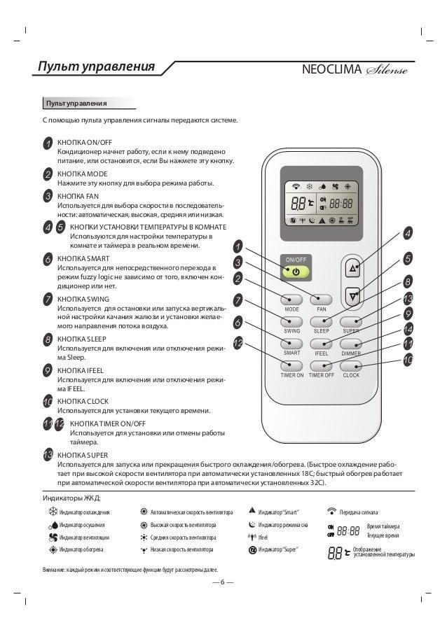 неоклима кондиционеры инструкция пульт zh/lt-01