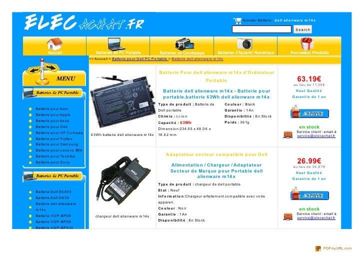 Acheter Batterie : de ll alie nware m 14 x                                                                                ...
