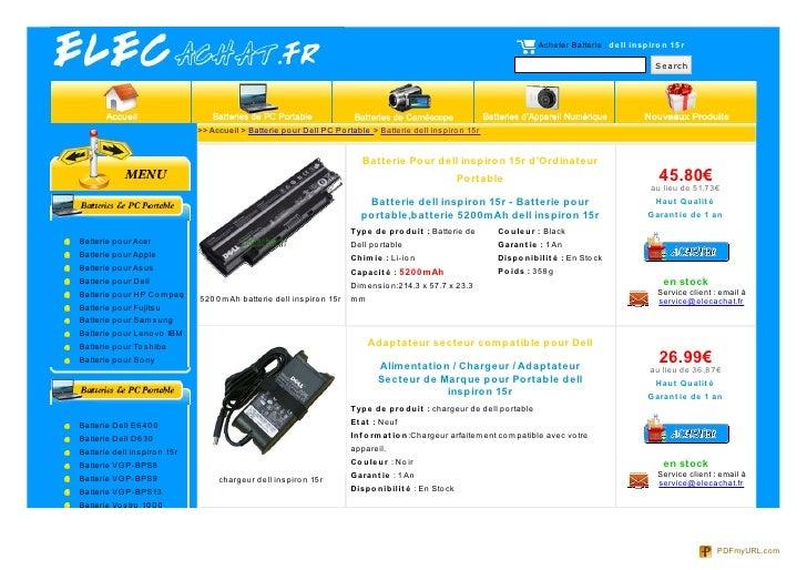 Acheter Batterie : de ll inspiro n 15 r                                                                                   ...