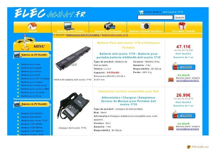 Acheter Batterie : de ll vo st ro 17 10                                                                                   ...