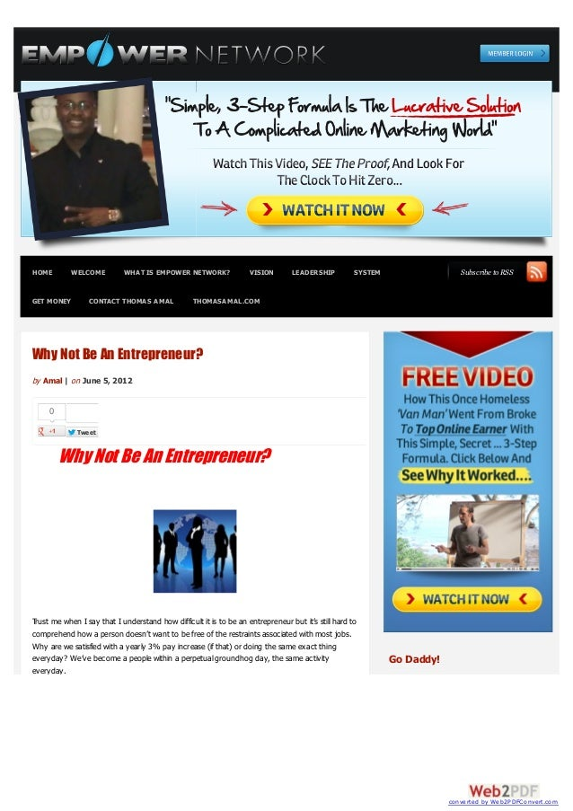 HOME        WELCOME         WHAT IS EMPOWER NETWORK?                VISION       LEADERSHIP          SYSTEM               ...