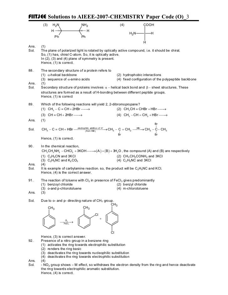 Entrance exam aieee chemistry sample paper 1 3 fandeluxe Choice Image