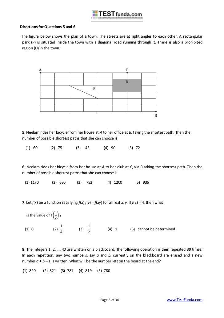 entrance exam net cat sample paper  testfunda com 3