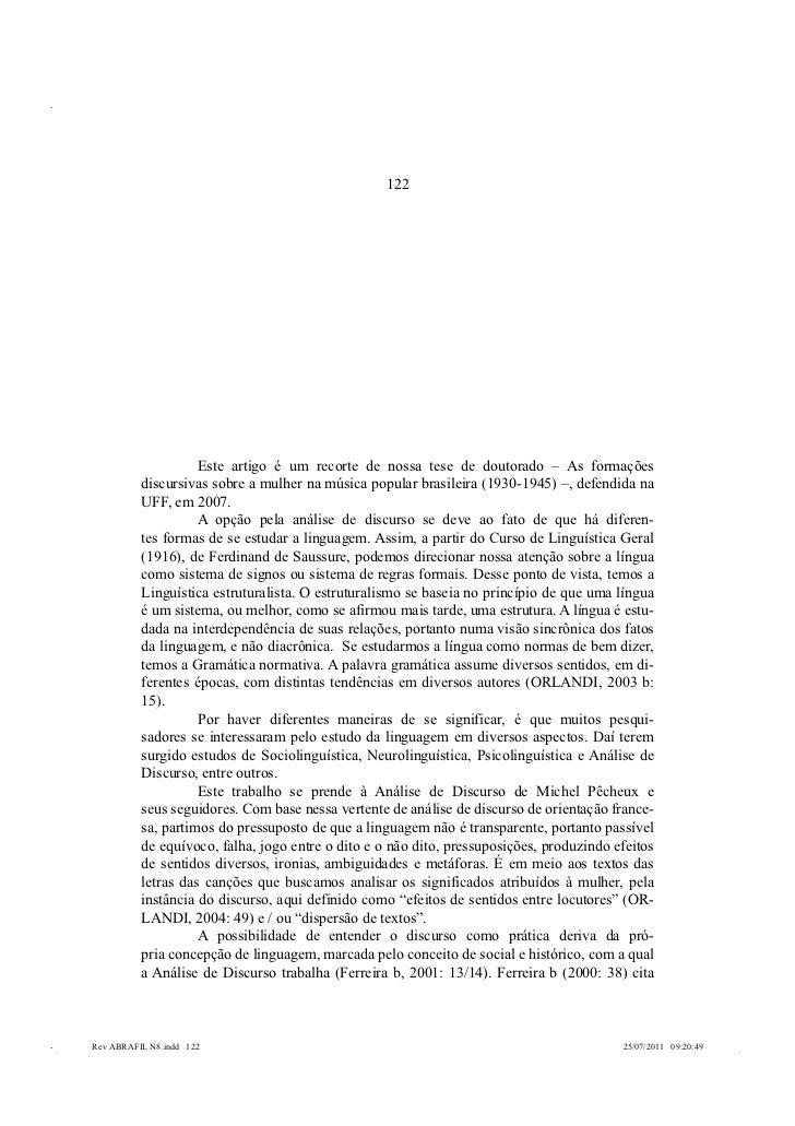 122           FORMAÇÕES DISCURSIVAS: O            MALANDRO E A VIOLÊNCIA          CONTRA A MULHER NA MPB (1930-           ...