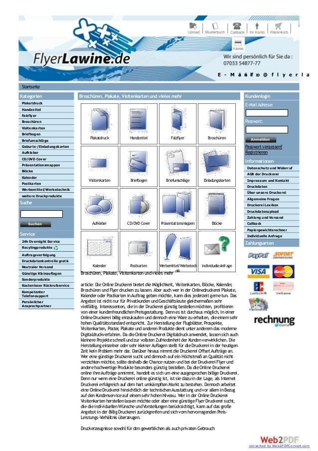 Kategorien Plakatdruck Handzettel Falzflyer Broschüren Visitenkarten Briefbogen Briefumschläge Geburts-/Einladungskarten A...