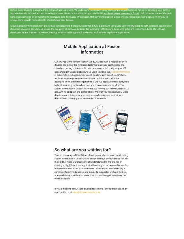 Best Iphone App Development Companies Dubai