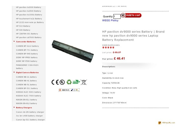 HP Pavilion dv9000 battery, Discount, replacement HP dv9000