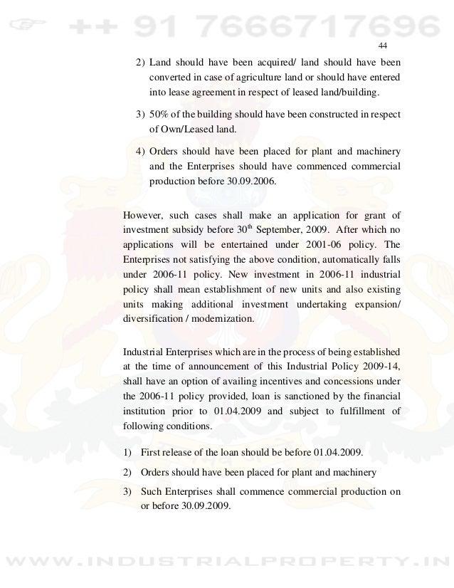 Karnataka Industrial Policy 2009 2014