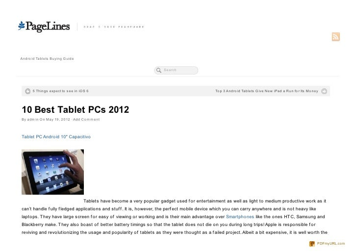 Andro id Tablets Buying Guide                                                                       Search      5 Things e...