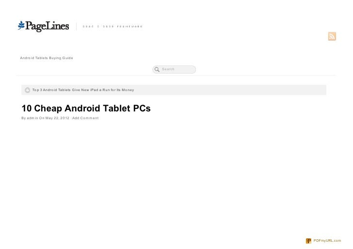 Andro id Tablets Buying Guide                                                                    Search      To p 3 Andro ...